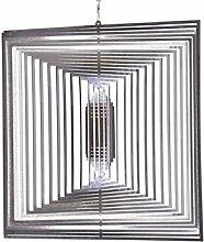 Illumino Edelstahl-Windspiel Quadrat gross