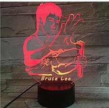 Illusion Bruce Lee Kungfu Beleuchtung 3dLamp