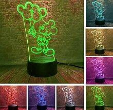 Illusion Lampe Nachtlicht Mickey Cartoon Mit