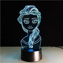 Illusion LED Nachtlicht Kinder Schöne 3D-Lampe