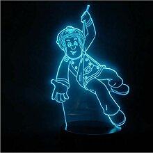 Illusion LED Nachtlicht USB 3D Lampe Völker Held