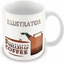 Illustrator von einer Tasse Lustige Geschenkidee Design office Arbeitsplätze
