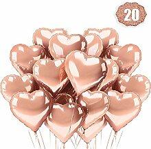 iLoveDeco 20 Stück Rosegold Herz