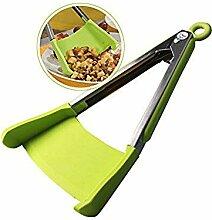 Ilucky Praktische 2-In-1 Küche Spatel Clamp