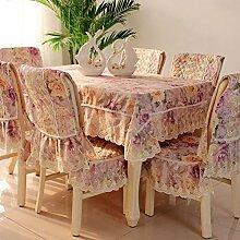 Im europ?ischen Stil Garten/Lace Tischdecke/Tetabellentuch-B Tischdecken:110x160cm(43x63inch)