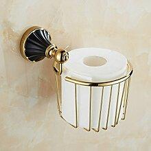 Im Europäischen Stil Bad-Accessoires Handtuchhalter Kupfer Regale Handtuchhalter Bad Hardware Bad-Accessoires Anzüge,PaperBaske