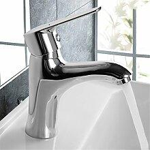 Im europäischen Stil Bleifrei-Armatur Waschtisch Armatur Waschbecken Wasserhahn heißen und kalten Wasserhahn voll Kupfer Wasserhahn, C