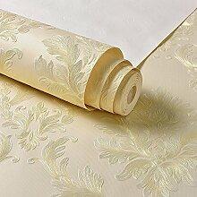 Im europäischen Stil Damaskus 3D Wallpaper, feinen Druck ab, mit Nicht-Fabric, Tapeten gewebt, Schlafzimmer, Wohnzimmer, TV-Hintergrund, Wand Tapete, beige Blume