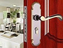 Im europäischen Stil Einfachheit, innere Tür Türgriff, Three-Set, Türgriffe mit den Mittleren Schwarzen