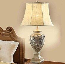 Im Europäischen Stil Harz Lampe Amerikanische Studie Creative Skulptur Wohnzimmer Schlafzimmer Schlafzimmer Bett Luxus Retro Nachttischlampe