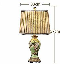 Im europäischen Stil lampe Schlafzimmer Bett Lampen Freihandzeichnung Studie kreative amerikanische Retro idyllische warmen Lampen, Schalter