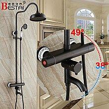 Im europäischen Stil mit antiken konstante Temperatur Dusche voll Kupfer schwarz Dusche Armatur bronze Dusche Dusche Badewanne D