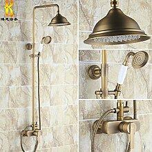 Im europäischen Stil mit antiken volle Bronze retro Luxus Dusche Badezimmer Armatur angehoben und abgesenkt werden kann.