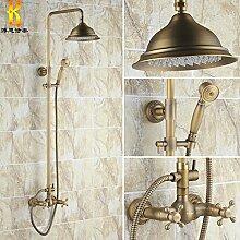 Im europäischen Stil mit antiken volle Bronze retro Luxus Dusche Badezimmer Armatur B angehoben und abgesenkt werden kann