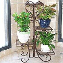 Im europäischen Stil mit Balkon Blume rack Bügeleisen Multilayer Pflanze, C