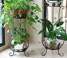 Im europäischen Stil mit Balkon Blumen Regal Eisen Kunst multilayer Blumentopf Rack, Bronzesmall