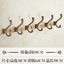 Im europäischen Stil Reihe der antiken Haken Haken robe Haken an der Wand montierte Kleiderhaken Kleiderbügel Mantelhaken hinter der Tür vintage Kleiderschrank, A-6 Haken