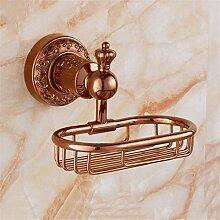 Im Europäischen Stil Rose Gold, Kupfer Rohr, Geschnitzte Badezimmer Kleiderbügel, Handtuchhalter, Handtuchhalter, Seife Warenkorb