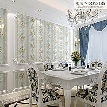 Im europäischen Stil Schlafzimmer Wohnzimmer TV wallpaper Das hintergrundpapier Wand Vlies Tapete,das Wasser blau