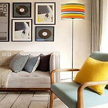 Im europäischen Stil Stehlampe Serie Rundes Tuch Lampenschirm Schmiedeeisen Stehleuchte Moderne minimalistische nordische Kreativität Stehleuchte Schlafzimmer Wohnzimmer Bett Stehleuchte (Farbe wahlweise freigestellt) - Retro-Stehlampe ( farbe : C )