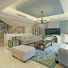 Im europäischen Stil Teppiche, mediterran geometrisch geformte Teppich, Wohnzimmer Coffeetable dicken Teppich, Schlafzimmer Bedside Kissen, rechteckige Decke, Haushalt Teppiche ( farbe : A1 , größe : 120*170cm )