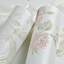 Im europäischen Stil,Vliestapeten,3D Dreidimensionale feinen Druck Wohnzimmer,Hintergrund Tapete,warme pastorale Hochzeit,Schlafzimmer Tapete,Wathe