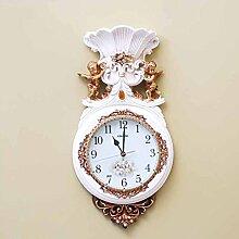 Im europäischen Stil Wohnzimmer Wanduhr Mute retro Uhren dekorative Blumenkunst Geräte kreative Persönlichkeit Wanduhr Dekoration by Home Déco Outle
