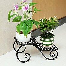 Im Freien Kraut Blumen Pflanze steht Creative Iron Flower Stand Balkon Wohnzimmer Flower Rack Office Floor Style Blumenständer (schwarz, braun, weiß) Im Freien Kraut Blumen Pflanze steht ( Farbe : Schwarz )