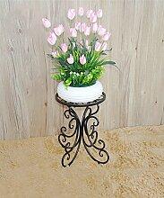 Im Freien Kraut Blumen Pflanze steht European Style Flower Frame Wohnzimmer Balkon Blumentopf Rack Wohnzimmer Indoor Plant Regale Im Freien Kraut Blumen Pflanze steht ( Farbe : Schwarz , größe : 25*25*34cm )