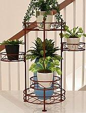Im Freien Kraut Blumen Pflanze steht Green Radix Orchidee Einfache Balkon Wohnzimmer Interieur Blumen Rack Eisen Mehrstöckige Blumen Rack Pastoral Floor Im Freien Kraut Blumen Pflanze steht ( Farbe : 2 )