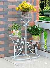 Im Freien Kraut Blumen Pflanze steht Iron Flower Rack Indoor und Outdoor Multi - Storey Pot Racks Garten Balkon Blumen Stand Im Freien Kraut Blumen Pflanze steht ( Farbe : A )