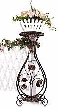 Im Freien Kraut Blumen Pflanze steht Iron Flower Rack, Indoor und Outdoor Kreativ Multi-Layer Balkon Blumentopf Rack Im Freien Kraut Blumen Pflanze steht ( Farbe : A )