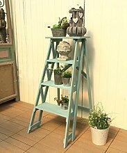 Im Freien Kraut Blumen Pflanze steht Massivholz Blumenrahmen Retro Ladder Pflanze Rack Garten Lagerung Rack Im Freien Kraut Blumen Pflanze steh