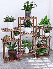 Im Freien Kraut Blumen Pflanze steht Mehrstöckige Holzböden Balkon Innen Moderne Wohnzimmer Mit Pflanze Rack Im Freien Kraut Blumen Pflanze steht ( Farbe : 1 )