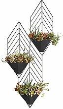 Im Freien Kraut Blumen Pflanze steht Wände Hängende Wandregale Drei Blumenständer Wohnzimmer Mehrgeschossige Blumenständer Wandregale Hängende Indoor Flower Racks Im Freien Kraut Blumen Pflanze steht ( farbe : #1 )