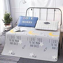 Im Sommer Kühlung Isomatte und 2 Kissenbezüge Insgesamt 3 Sätze, Sitze, drei Stück Falzen weiche Sommer Matte, Star Grau, 180 × 200 cm