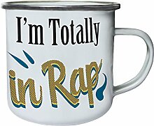 Im totally in rap Retro, Zinn, Emaille 10oz/280ml