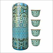 images d´ orient Tin Box with 4 Coffee Cups