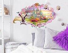 Imagicom Regal Academy Wandtattoo Wanddeko Rose, PVC, pink, 0.1x 49x 68.5cm