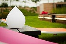 Imagilights Cone LED Aussenleuchte, 24 Farben mit Farbwechsel, Kerzenmodi, Höhe ca. 24,5 cm, Durchmesser ca. 21,5 cm, Rund, Kabellos, mit Akku, Inklusive Ladegerät, Wasserdicht, Stoßfes