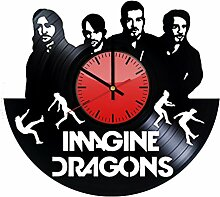 Imagine Dragons Musikband Wanduhr aus Vinyl –
