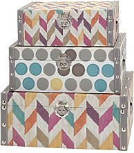 Imax Konfetti Boxen, Mehrfarbig, Set von 3