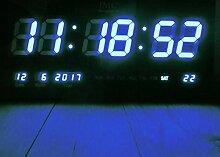 IMC Manufactoria LED - Wanduhr mit Zahlen blau