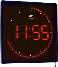 IMC Manufactoria LED - Wanduhr mit Zahlen rot