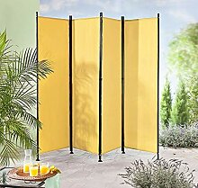 IMC Paravent 4-teilig gelb-orange Raumteiler