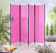 IMC Paravent 4-teilig pink Raumteiler Trennwand