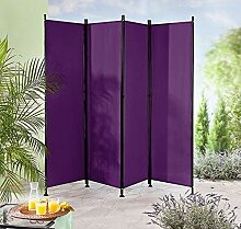 IMC Paravent 4-teilig violett Raumteiler Trennwand