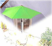 IMC Sonnenschirm halbrund hellgrün Balkon mit