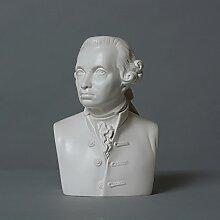 Immanuel Kant Skulptur aus hochwertigem Zellan,