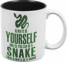 Immer werden sich Snake aller Kaffee-Haferl schwarz-weißen eine Standardgröße